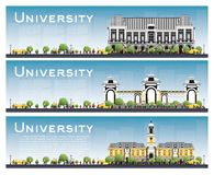Set of University Study Banners. Vector Illustration. Students G Royalty Free Stock Photography