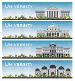 Set of university study banners. Stock Photography