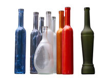 Set of unlabeled beautiful bottles Royalty Free Stock Image