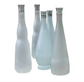 Set of unlabeled beautiful bottles Stock Photography