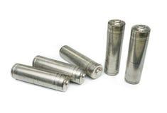 Set unlabelled AA baterie Fotografia Stock