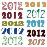 Set unterschiedlicher Filz 2012 Symbole Lizenzfreie Stockfotos