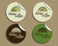 Set of unusual brand identity - dream coffee Stock Image