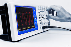 Set up a digital oscilloscope Royalty Free Stock Photo