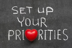 Set up priorities Royalty Free Stock Images