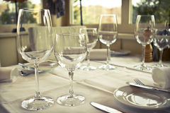 Set Up Table Royalty Free Stock Image