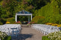Set up for a Wedding Stock Image