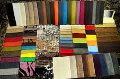 Set of upholstery samples for upholstered furniture Royalty Free Stock Photos
