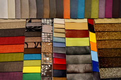 Set of upholstery samples for upholstered furniture Royalty Free Stock Photography