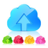 Set of Upload Cloud Icons Stock Photography