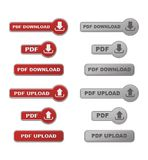 Set of upload and download PDF button with hover s Royalty Free Stock Photography