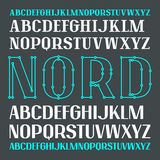 Set of uppercase contrast font. Bold face. Serif and sans serif versions Royalty Free Stock Images