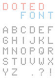 Set of uppercasse dotted letters - alphabet font made of small c Royalty Free Stock Image
