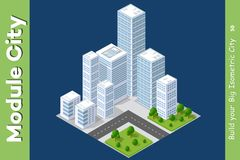 Set of urban areas of modules Royalty Free Stock Photography