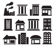 Set urban building icons Royalty Free Stock Photo