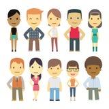 Set of urban characters Stock Photos