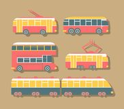 Set of Urban Transport Royalty Free Stock Images