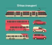 Set of urban transport Stock Photo