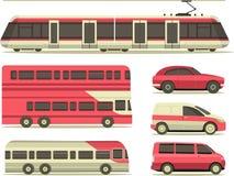 Set of urban transport Stock Photography