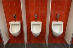 Set of urinals Royalty Free Stock Photos