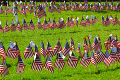 Set of us patriotic flags. red, white and blue. Royalty Free Stock Image