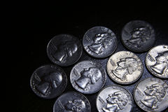 Set of US Quarters Royalty Free Stock Images