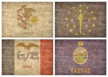 Set US-Zustandmarkierungsfahnen Lizenzfreies Stockbild
