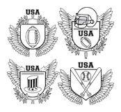 Set of USA emblem. Collection vector illustration graphic design vector illustration graphic design vector illustration