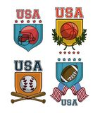 Set of USA emblem. Collection vector illustration graphic design vector illustration graphic design stock illustration