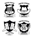 Set of USA emblems. Collection vector illustration graphic design vector illustration graphic design vector illustration