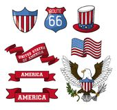 Set of USA emblems. Collection vector illustration graphic design vector illustration graphic design stock illustration