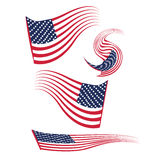 Set of USA flags Royalty Free Stock Image