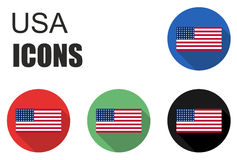 Set usa flat icons Stock Photos