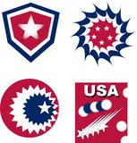Set of usa independent greetings Royalty Free Stock Photography