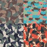 Set usa kształta camo bezszwowy wzór Kolorowy Ameryka miastowy kamuflaż Wektorowej tkaniny druku tekstylny projekt Fotografia Royalty Free