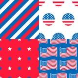 Set of USA Patterns Stock Photography