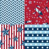Set of USA Patterns Royalty Free Stock Photo