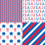 Set of USA Patterns Stock Photo