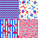 Set of USA Patterns Royalty Free Stock Images