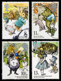 Childrens Book Postage Stamps Royalty Free Stock Photography