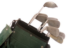 Set of used golf clubs Royalty Free Stock Images