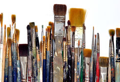Used brushes Stock Photo