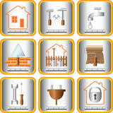 Set useful tools for house and garden. Set sign useful tools for home and garden Stock Photography