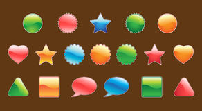 Set of useful web buttons. For your site Royalty Free Stock Image
