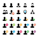 Set of user icons Stock Photo