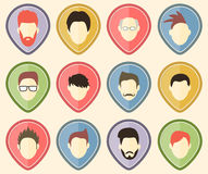 Set of 12 user icons for web sites and social network. Vector illustration Royalty Free Stock Image