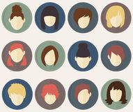 Set from 12 user icons for web sites and social networks. Vector illustration Royalty Free Illustration