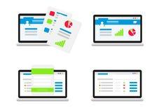 Set of user interface. Flat royalty free illustration