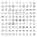 Set of User Interface Icons Royalty Free Stock Photo