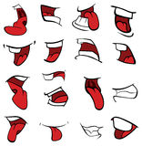 Set usta kreskówka Obraz Royalty Free